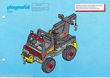 PLAYMOBIL Bauplan Bauanleitung Manual - 3994 Abschleppwagen Power Truck 03/98