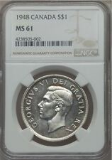 1948 Canada Silver Dollar - NGC MS 61 - 4238505-002