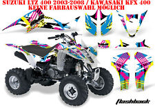 Amr racing decoración Graphic kit ATV suzuki ltz & Kawasaki KFX flashback B