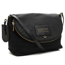 NWT MARC By MARC JACOBS Natasha Black Nylon Flap Messenger Crossbody Bag