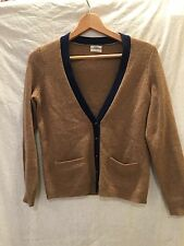 Wallace Madewell J.Crew Merino Wool Cardigan Sweater two-tone Size S