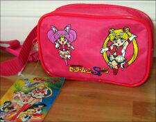 Super S SailorMoon Purse Waist Bag Fanny Pack Sailor Moon & Chibi Pink RARE ITEM