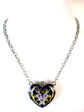LADIES STUNNING MULTI LAYER NECKLACE HEART UNIQUE BRAND NEW RETRO THEME  (ST65)