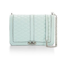 Rebecca Minkoff Bag Convertible Jumbo Love Mint Leather NEW $355 retail