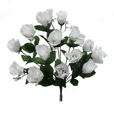 84 Long Stem Roses ~ WHITE ~ Silk Wedding Flowers Centerpieces Bridal Bouquet