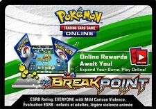 Pokemon TCG XY BREAKPOINT : VIRTUAL ONLINE CODE CARD NEW X 50