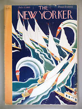 The New Yorker Magazine - July 27, 1929 -- Theodore G. Haupt art deco cover