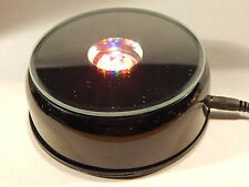 Rotating Lighted Display Black Base - Multi Colored LED Lights