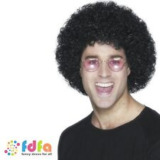 1970s BLACK DISCO BIG HUGE BUDGET AFRO WIG mens fancy dress costume accessory