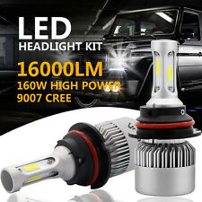 CREE COB 9007 HB5 160W 16000LM LED Headlight Kit Hi/Lo Power Bulbs 6500K White