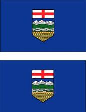 set of 2x sticker vinyl car bumper decal outdoor moto flag alberta canada