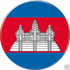 MIROIR DE POCHE Ø56 mm coque style BADGE  Cambodge-Cambodia-Camboya