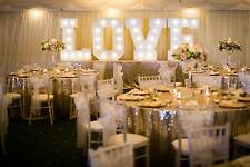 HIRE Champagne Gold Sparkly Sequin Head Table Tablecloth- UK