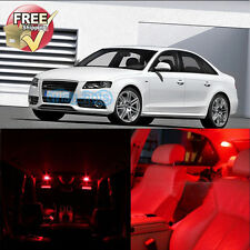 18 Pieces Red LED Lights Interior Package For Audi A4 S4 B6 B7 Sedan Avant