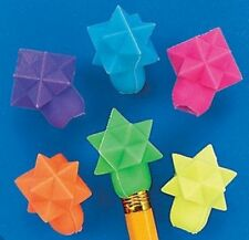 Pack of 24 - Star Shaped Eraser Pencil Toppers
