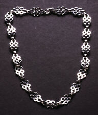 Luxurious Dual Chrome Swirl Feature Chain/lobster Clasp Metal Necklace(Zx59/220)