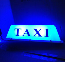 "14"" 10 LED Taxi Cab Sign Roof Top Topper Car Super Bright Light Lamp 12V Blue"