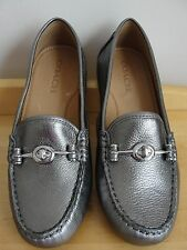 Coach Women's shoes,Arlene Loafers&Moccasins size 8M,metallicTumbled Warm Pewter