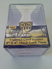 SafTgard Top Load Rigid Card Protector 3x4 7mm Thick Package Of 10 Premium NIP