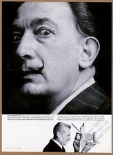 1960 Salvador Dali BIG photo Polaroid camera vintage print ad