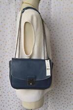 100% Authentic MARC JACOBS Blue Leather Mini Polly Nautical Crossbody Bag NEW!