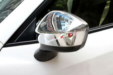 ABS Chrome Side Rearview Mirror Cover Trim 2pcs For Mazda 2 Demio 2015 2016