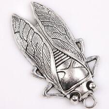 4x 145999 Hotsale Charms Cicada vintage tono argento LEGA Ciondoli risultanze fai da te
