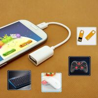 To USB 2.0 Female OTG White/Black Adapter Cable Micro USB Male HTC Galaxy S3 S4