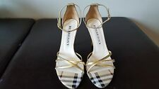 Burberry Strappy Heels Gold Size 36 1/2