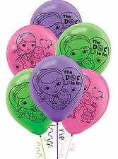 DISNEY DOC MCSTUFFINS PARTY SUPPLIES 6 LATEX BALLOONS 12 INCH HELIUM QUALITY