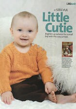 KNITTING PATTERN Sirdar Baby & Childrens Jumper Button Criss Cross Design MAKE