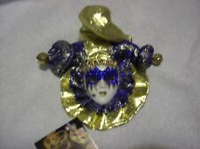 Venetian Mask Masquerade Carnival Wall plaque dark blue and gold