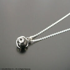 Final Fantasy 7 VII Black Materia Meteor Official Silver Necklace Pendant