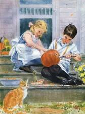 vintage 60s children Halloween carving Jack O Lanterns