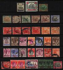 Malaya & Straits 1900-1962 M&U Lot 34 items