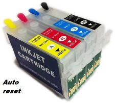 REFILLABLE Ink Cartridge Set for EPSON SX105 SX200 SX400 SX405 SX600FW B40W