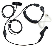 Earpiece Headset PTT Throat Mic Microphone for Motorola Radio XPR7550 XPR7580