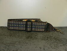 Classic Thin Blue Pattern Adjustable Hippie Camera Strap from 1980's A797