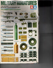TAMIYA Plastic Minatures Model 1:35 Scale US Modern US Accessory set  MM141