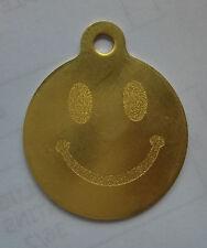 Médaille en laiton gravée pour chien SMILEY