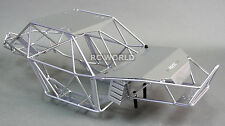 AXIAL WRAITH RR10 BOMBER All Metal FRAME BODY ROLL CAGE  w/ Metal Sheets SILVER