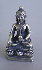 Small Metal Alloy Shakyamuni Buddha Statue for Dharma in Nepal, Tibet 1 1/4""