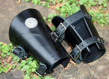 Short Rounded Leather Bracers Arm Armor SCA LARP armour Ren female fantasy cuffs