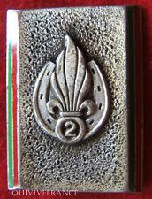 IN4804 - INSIGNE 2° Régiment Etranger d'Infanterie, guilloché, 1 boléro oblong