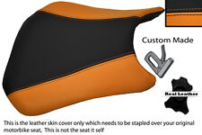 BLACK & ORANGE CUSTOM FITS HONDA CBR 600 RR5 RR6 05-06 FRONT SEAT COVER