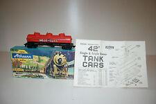 Mobil Gas Vintage Athearn Miniature HO Scale Train Car Mint in box MIB