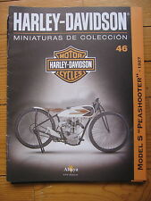 FASCICULE 46  MOTO COLECCION HARLEY DAVIDSON MODEL S PEASHOOTER 1927