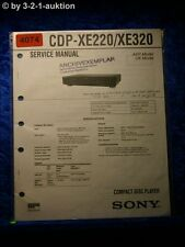 Sony Service Manual CDP XE220 /XE320 CD Player (#4074)