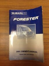 2001 Subaru Forester owners Manual