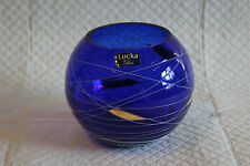 Lucka Cobalt Blue Bohemian Art Glass Bowl